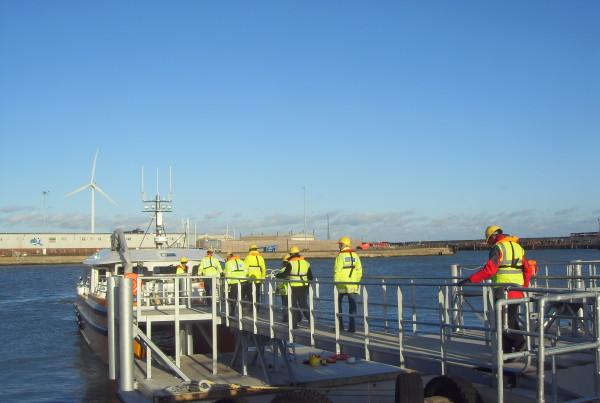 Lowestoft Harbour pontoon