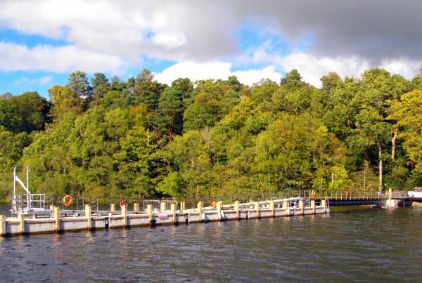 Floating pier lake windermere concrete pontoon